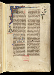 Historiated Initial With The 'Agnus Dei', In A Volume Of Works By St. Augustine And Others f.2r